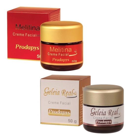 Kit 1 Melitina Creme Facial 50g + 1 Geleia Real Creme 50g