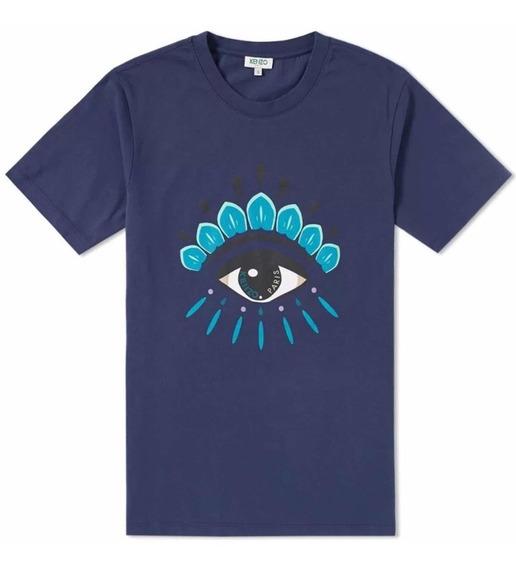 Playera De Cuello Redondo Eye Kenzo Azul Marino