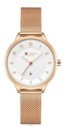 Relógio Feminino Curren Original - Rose
