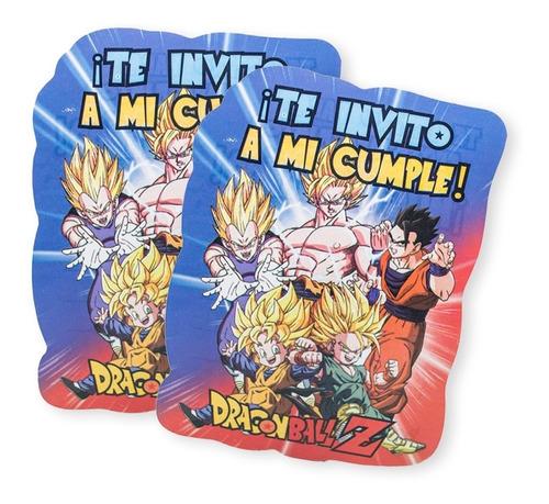Imagen 1 de 3 de Invitaciones Para Cumpleaños X 10u - Dragon Ball Z