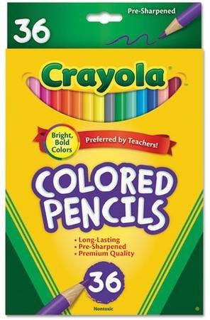 Lapices Crayola Largos 6 Blister De 36 Unidades C/u