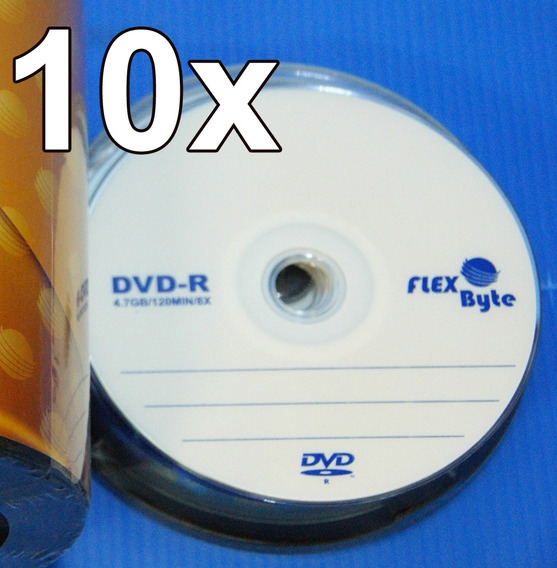 Kit 10 Dvd Virgem Flexbyte 4.7gb