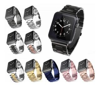 Pulseira Aço Inox Para Apple Watch 1 2 3 4