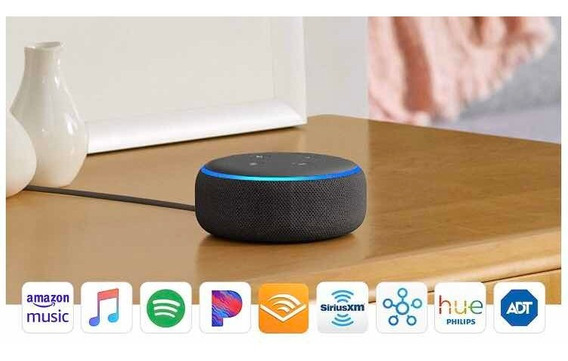 Echo Dot (3rd Gen) Smart Speaker With Alexa - Charcoal