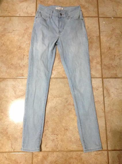 Pantalón Jeans Skinny Entubados Levis Mujer 26 Cintura Alta