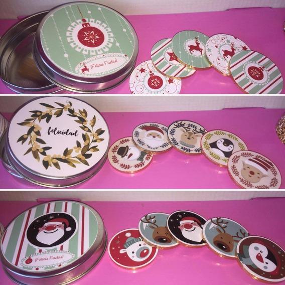 Latita Pastillero Con Monedas De Chocolate