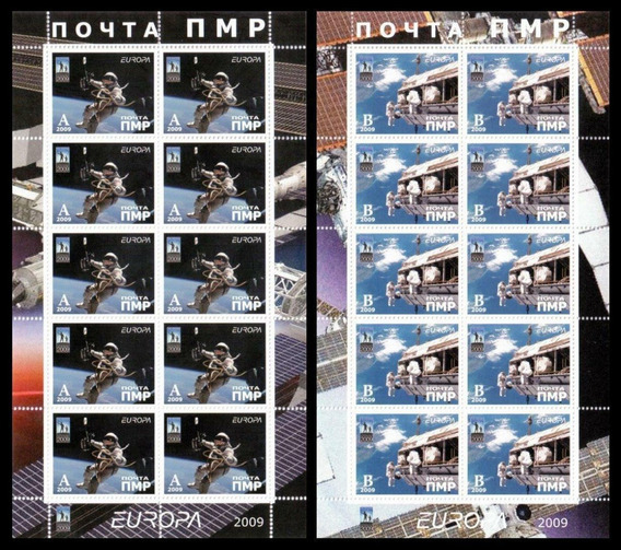 Transdnistria 2 Blocos Mnh Astronauta/ Estação Espacial 2009