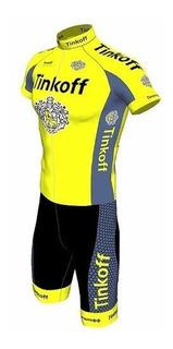 Conjunto Ciclismo Barbedo Tinkoff Camisa + Bermuda Bike