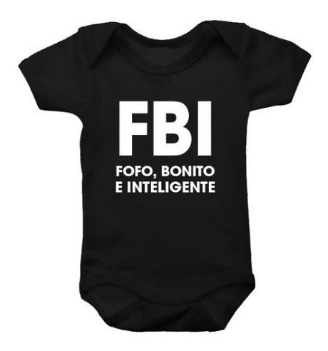 Body De Bebê - Fbi - Fofo, Bonito E Inteligente