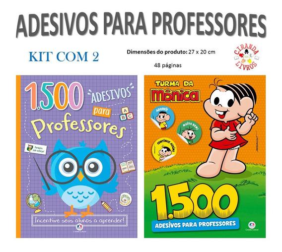 3000 Adesivos Para Professores | Kit Com 2 Livros De 1500