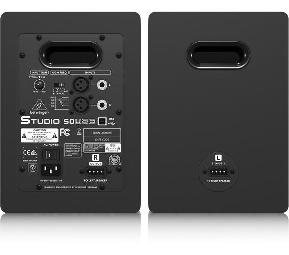 Monitor De Estúdio Behringe Studio 50usb 150w Kevlar (par)