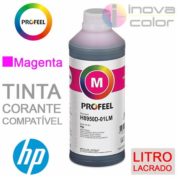 1 Litro Tinta Hp Corante Profeel H8950d-01-lm Magenta