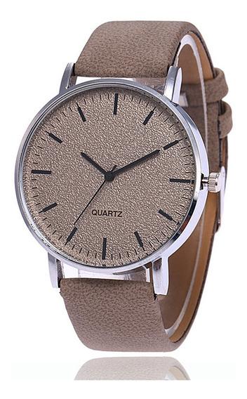 Relógio Unissex Fashion Matte Grande Mostrador Cinza