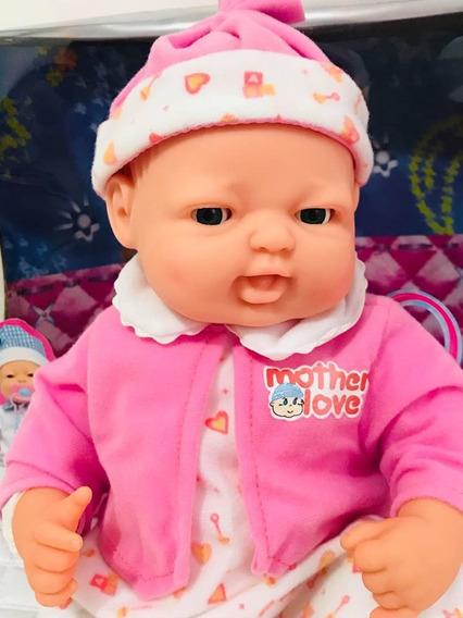 Boneca Bebê Fofucho C/ Expressão Real + 3 Pilhas A A