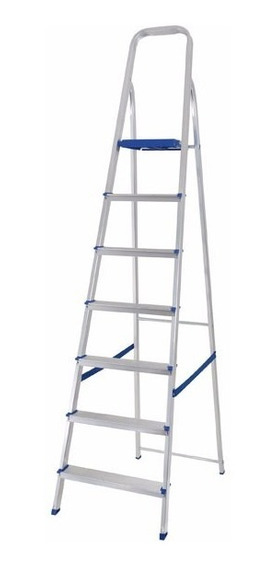 Escalera Aluminio Mor 7 Escalones 1.52mts Altura Utilizable