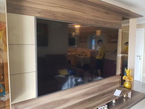 Imagem 1 de 5 de Instalação De Tv Na Parede/madeira/móvel
