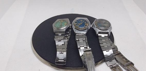 Lote De 3 Relógios De Pulso Orient