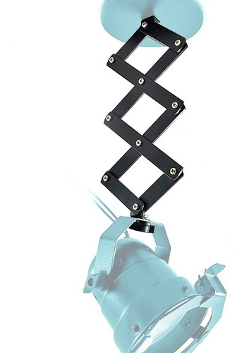 10x Suporte Mini Pantógrafo Para Spot Sanfona Iluminação