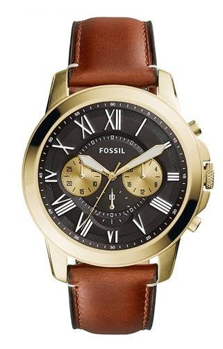 Relógio Fossil Grant Dourado Original Com Nota - Loja