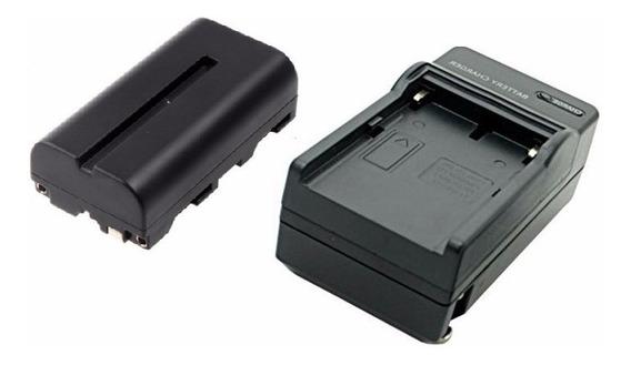Bateria Np-f 570 + Carregador Para Iluminadores Led