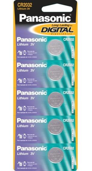 Bateria De Lithium Botão Panasonic Cr2032 C/ 5 Unid