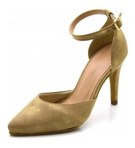 Sapato Scarpin Salto Alto Fino Casual Social Aberto Conforto