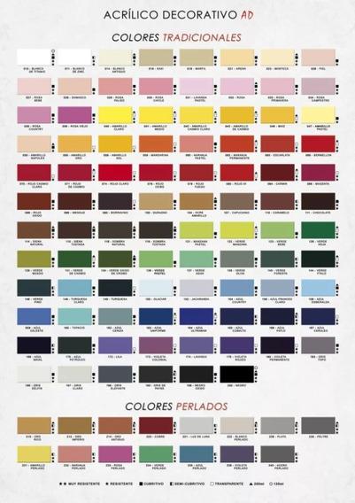Pintura Acrilica Ad 50 Ml 62 Colores + 8 Perlados