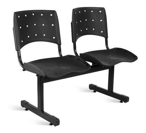 Conjunto Cadeira 2 Lugares Longarina Empresa Recepção