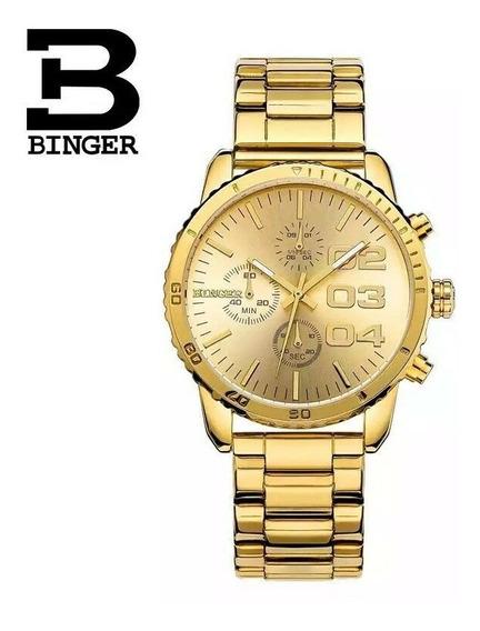 Relógio Binger Dial 40mm. 100% Funcional Postagem Imediata.