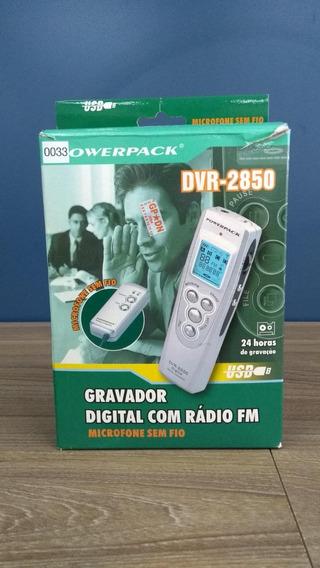 Gravador De Voz Powerpack Dvr-2850