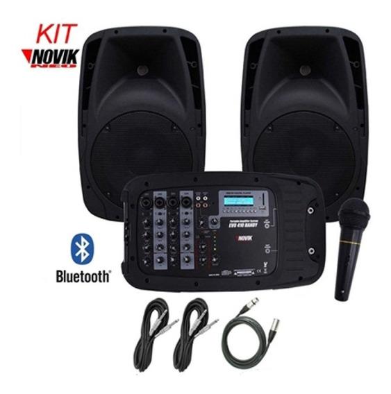 Mixer Amplificado Kit Novik Nkevo410 Usb