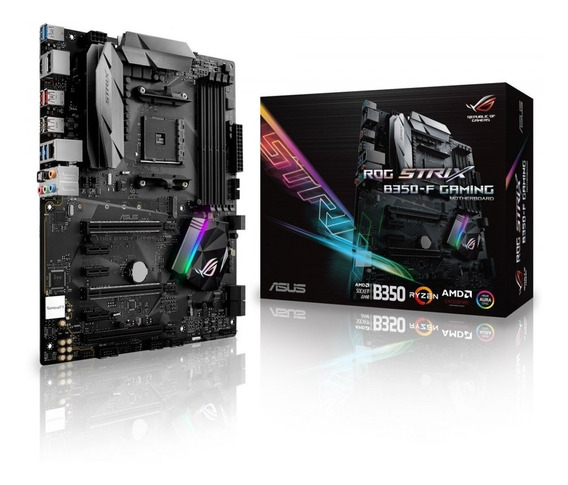 Placa Mãe Asus Rog Strix B350 F Gaming Am4 Rgb Ryzen 6gb/s