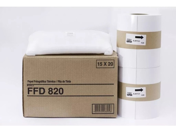 Papel/fita Fujifilm Ffd820 15x20cm (2 Rolos + 2 Fitas)