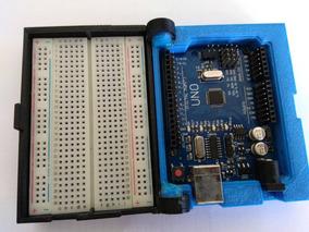 Arduino Uno Pocket (com Case E Protoboard) Produto Único