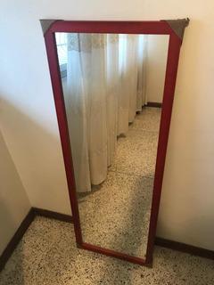 Espejo Con Marco De Madera 120x40 Y 50x40