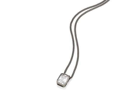 Gargantilha Fio Grumet Diamantada Pingente Rommanel 430011
