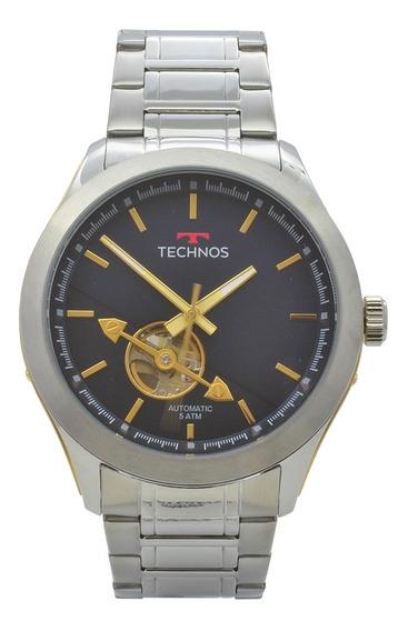 Relógio Technos Masculino Automático 82soae/1a - Prata