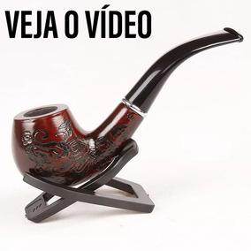Cachimbo De Madeira Com Detalhe Para Fumo Caximbo
