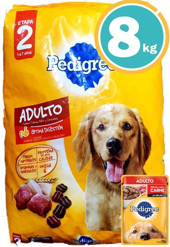 Alimento Pedigree Perros Adulto 9kg C/salsa Y Envío S/cargo