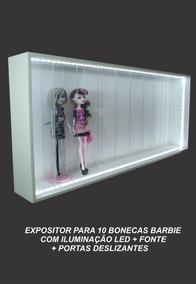 Expositor Nicho Barbie Monster Led Marujo Estantes