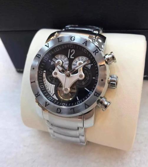 Relógio Bv Vnon Prata Original