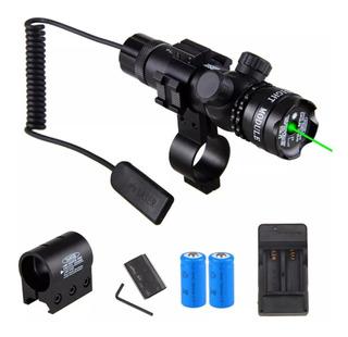 Laser Verde Tatico + Carregador C/2 Baterias