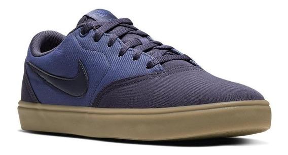 Tenis Caballero Casual Nike Sb Check Solar Cnvs 6024 Azul