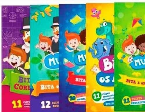 Coleção Mundo Bita - 5 Dvds Caixa Box - Envio Já