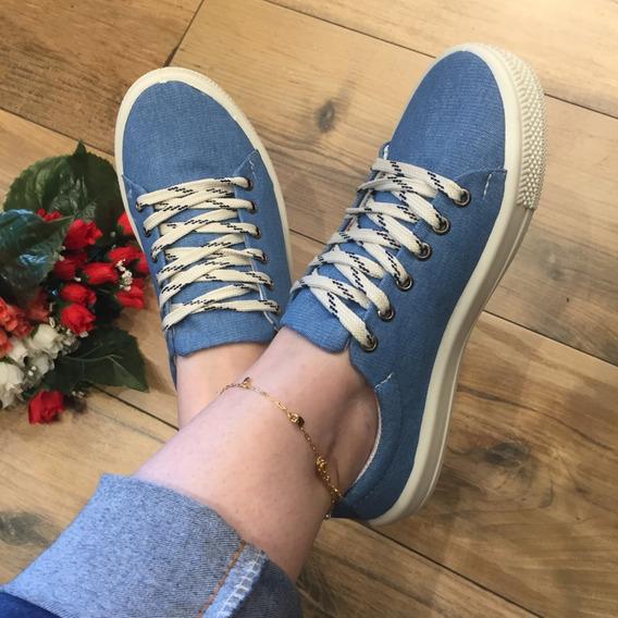 Tênis Feminino Casual Jeans Luxo Confort Santa Liz By