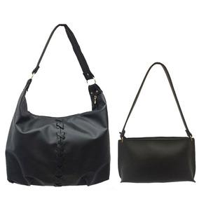 Kit Com 2 Bolsas - Bolsas Femininas Couro Sintético Promoção