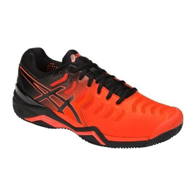 Tênis Asics Gel Resolution 7 Clay Laranja E Preto