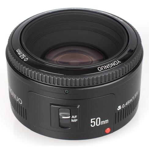 Lente Fixa Yongnuo Yn 50mm F/ 1.8 P/ Câmeras Canon Dslr