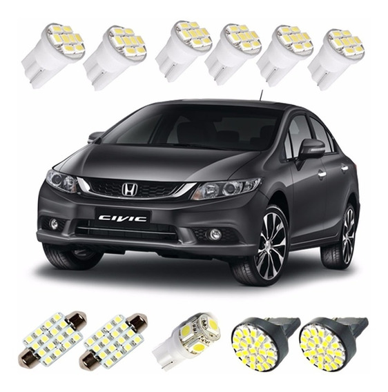 Kit Lampadas Led New Civic 2014 2015 2016 Pingo Ré Teto