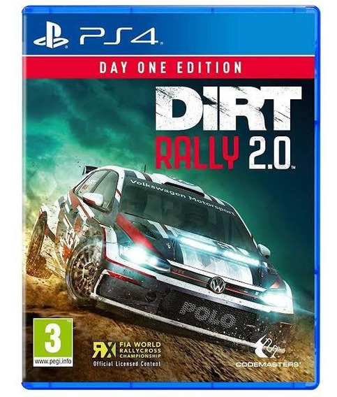 Jogo Ps4 Dirt Rally 2.0